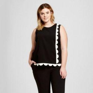 Victoria Beckham for Target Black Scallop Trim L